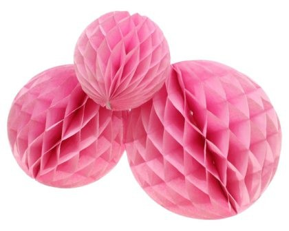 """Pink Honeycomb Party Decoration- (Set of 3) 10"""""""
