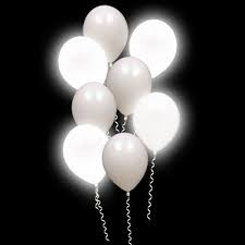 White Led Balloons ( pack of 5 )
