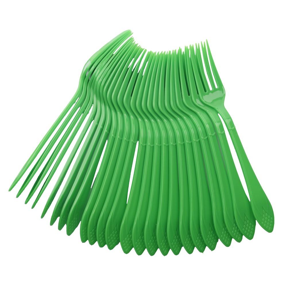 24 pc Fork Set - Green