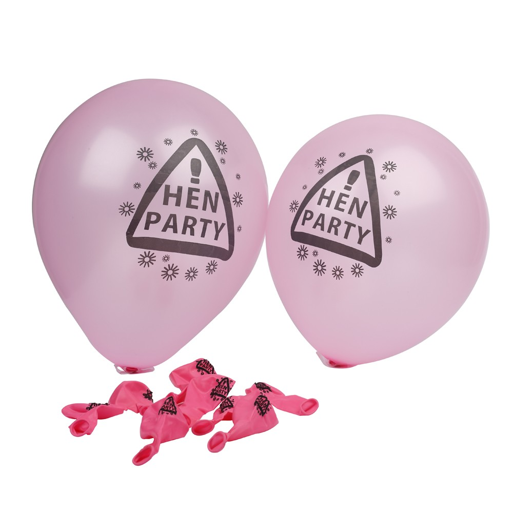 Hen Party Latex Balloons (Set of 10)