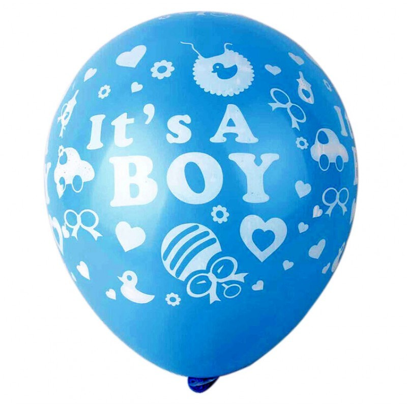 It's a boy latex balloons- set of 10