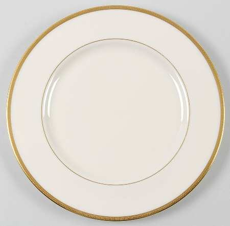 Plastic Plates with Gold Rim( Set of 5) 10''