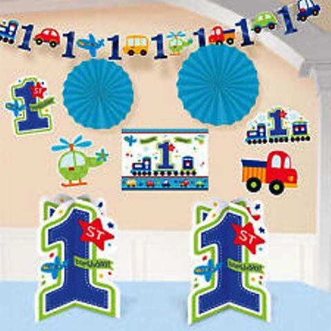 1st Birthday Boy Room Decorating Kit (set of 10)