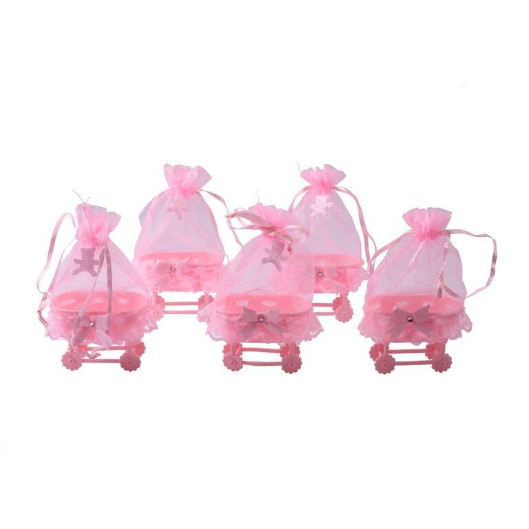 Pink Baby Cradle Favors - Set of 5