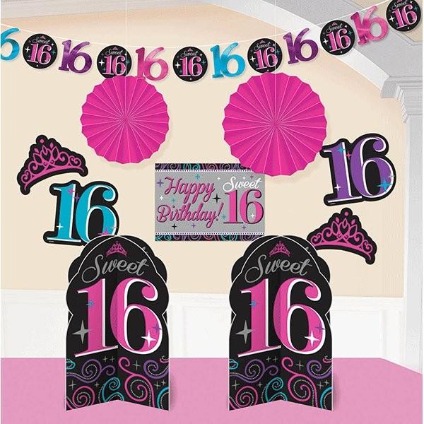Sweet 16th Room Decorating Kit (10pcs )
