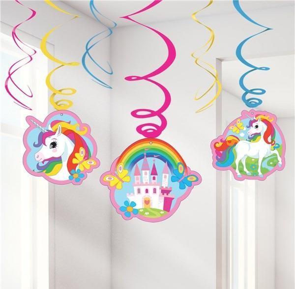Unicorn Swirls ( set of 6pc)