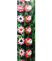 Assorted Casino String decoration (set of 3)