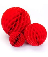 Red Honeycomb Party Decoration- (Set of 3) 10