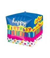 Square shape Bday foil Balloon 24''