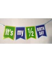 Half Birthday Bunting Boy