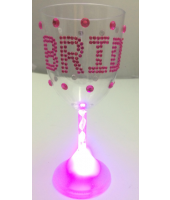 Light Up Wine Cup for Bride - Bachelorette Party Supplies