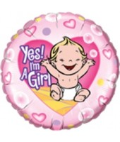 Yes! I M A Girl Foil Balloon 18''