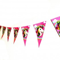 Unicorn Bunting Triangular