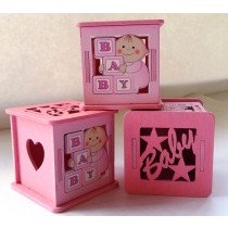 Boxes Baby Shower - Pink (set of 3)