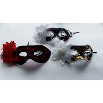 Mask half with flower 1 ( set of 3 )