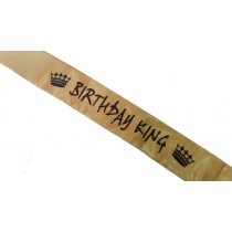 Birthday King Sash