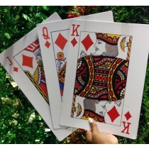 Jack Queen King Card Decoration (Set of 3)