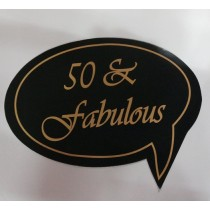 50 & Fabulous Photo Booth Props