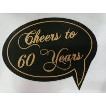 Cheers to 60 Years Photo Booth Props