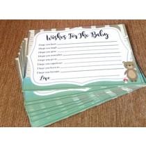 Baby Shower Wishes Slips Set ( Set of 10pcs )