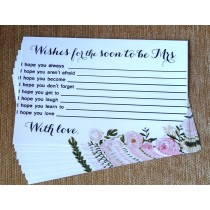 Bride to be Wishes Slips Set ( set of 10pcs)