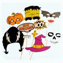 Halloween Party Photo booth sticks set (set of 10)