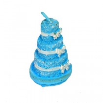3 Tier Cake Shape Candle (Blue)