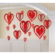 3D Foil heart decorating kit ( 16 pcs )