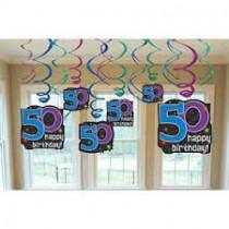 50th Bday swirls( set of 12)