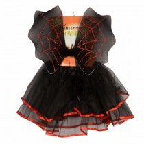 BLACK Wing & Skirt Set - Batgirl Halloween Costume( 2 -4Age)