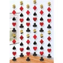 Casino String Decoartion (set of 6)