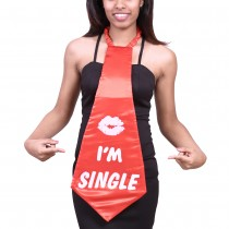 Large I'm Single Tie