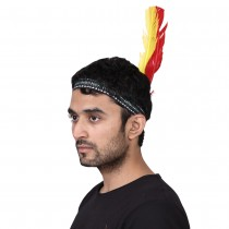 Red Indian Feather Headband