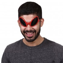 Red Alien Glasses