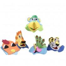 Animal Foam Visor Caps for Kids (Set of 3)