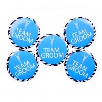Team Groom Badge(set of 5)