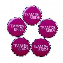 Team Bride Badge(set of 5)
