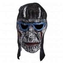 Scary Mask with Blue Glasses