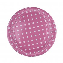 "Polka Paper Plates 10"" ( set of 10)"