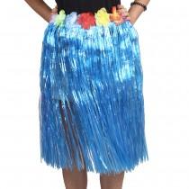 Blue Straw Hula Skirt Medium