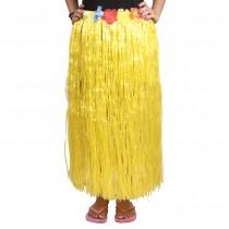 Yellow Straw Hula Skirt Large