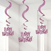 Happy Birthday Swirls (set of 6)