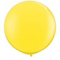 Jumbo Yellow Latex balloon 25''