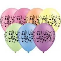 Music latex balloons