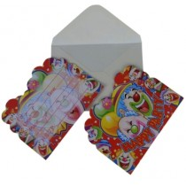 Clown Invitation Card (Set of 8)