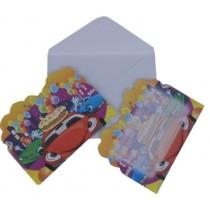 Cars  Invitation Card (Set of 8)