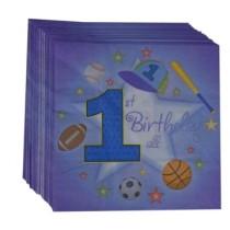 1st Birthday Boy Napkins (Set of 20)