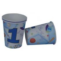 1st birthday boy  cups (Set of 8)