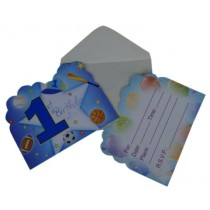 1st Birthday Boy Invitation Card (Set of 8)