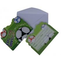 Football Invitation Card (Set of 8)